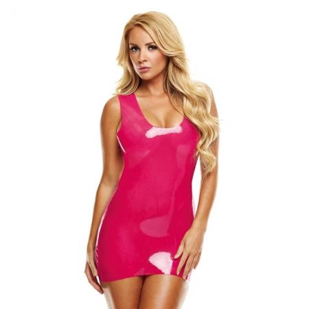 Image of Latex Mini Kleid pink