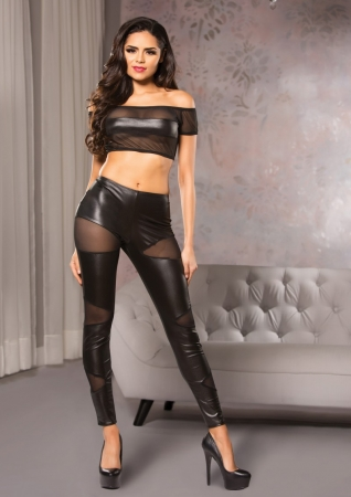 Image of Allure Cutaway Mesh Leggings
