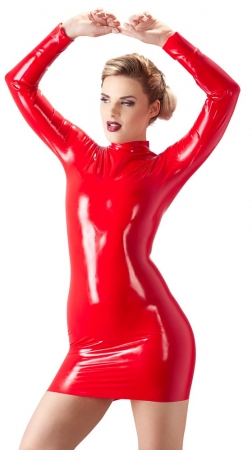Latex Minikleid rot