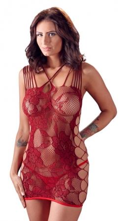 Mandy Mystery Netzkleid Rot