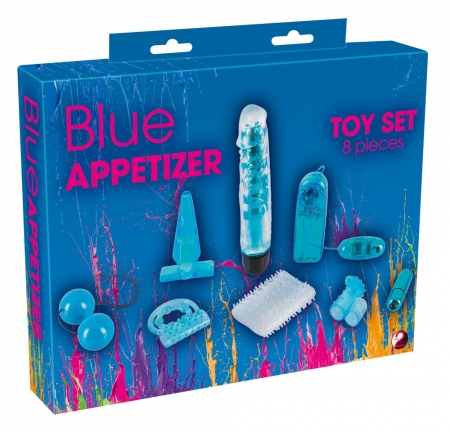 Blue Appetizer Lovetoy Set