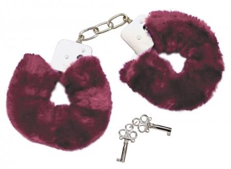 Plüsch Handschellen purple