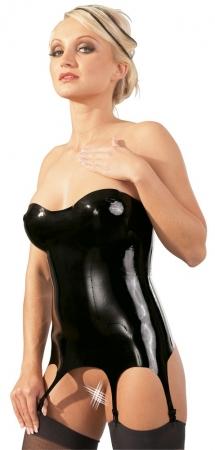 Latex Strapshemd schwarz