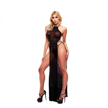 Image of Lapdance Lace Gown Black