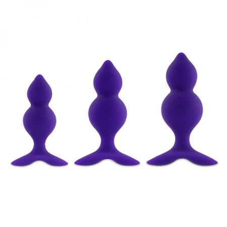 Image of Bibi Twin Buttplug Set Purple