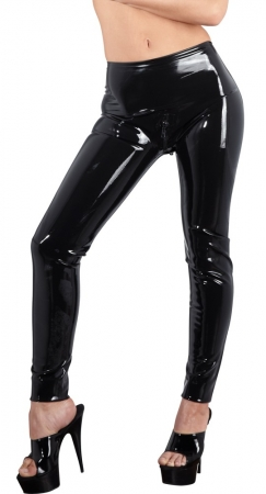 Latex schwarze Leggings