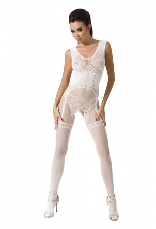 Passion Bodystocking BS052 White